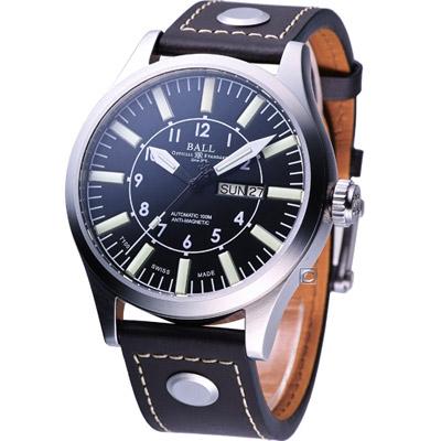 BALL Engineer Master II 冒險傳奇機械腕錶-黑/46mm