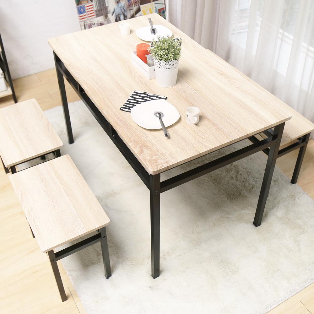 H&D 綺麗兒工業風個性鐵架餐桌_120*70*76.2cm