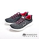 WALKING ZONE 天痕戶外瑜珈鞋系列 彈性直套運動鞋女鞋-黑