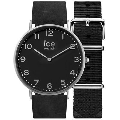 Ice-Watch 城市系列 復刻超薄簡約手錶-黑/41mm