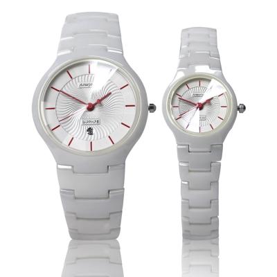 Arseprince 浪漫指南愛心指針對錶-白色