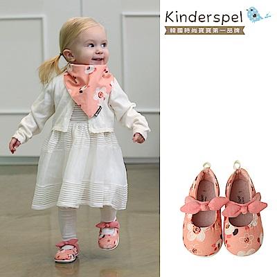 Kinderspel 輕柔細緻.郊遊趣休閒學步鞋(蝴蝶結_夢幻愛麗絲)