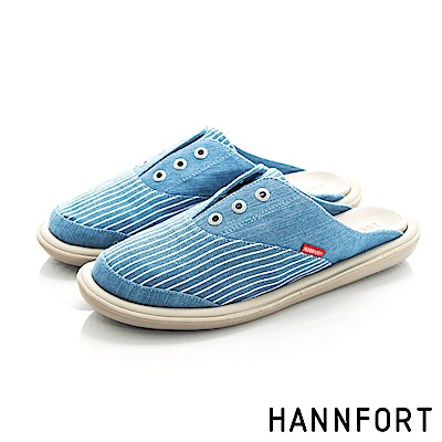 HANNFORT COZY牛仔穆勒休閒鞋-女-天空藍