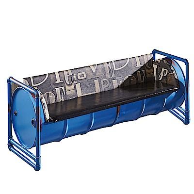品家居 歐格工業風皮革沙發三人座-180x65x73cm免組