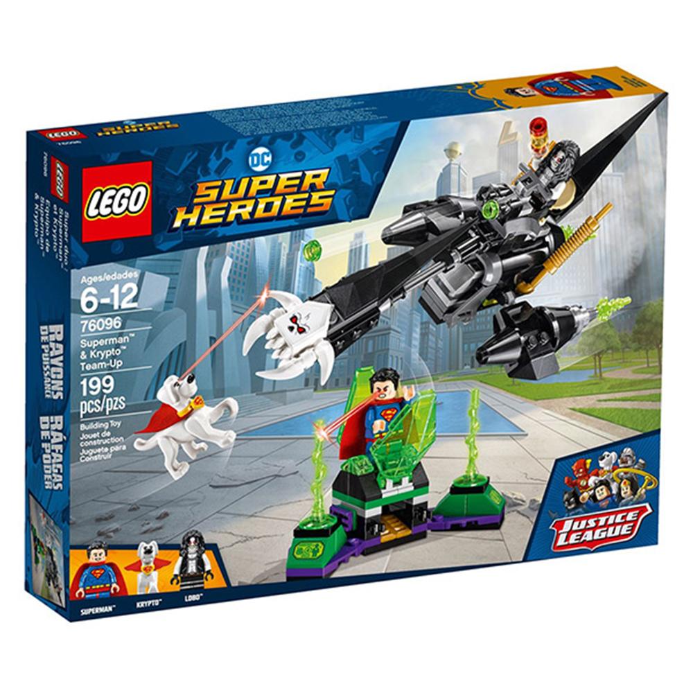 LEGO樂高 超級英雄系列 76096 正義聯盟 超人與氪普托的協力作戰