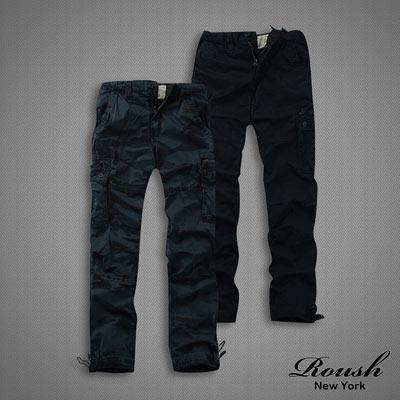 【 ROUSH 】雙拉鍊多口袋水洗工作長褲 (5色)