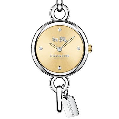 COACH 魅力流行時尚銀鐲腕錶/施華洛世奇晶鑽/14502689