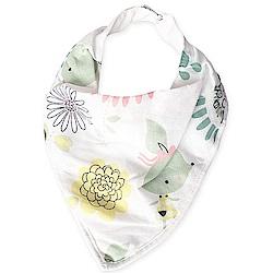 Baby unicorn 花朵造型純棉雙面三角造型圍兜口水巾