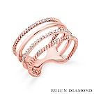 RUIEN DIAMOND 韓國輕珠寶 飾品 配件14K 玫瑰金 戒指 J5755