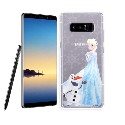 冰雪奇緣展場限定版 三星 Samsung Note8 空壓殼(艾莎雪寶)