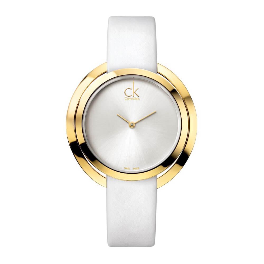 CALVIN KLEIN Aggregate系列鍍PVD燦金女錶-42mm