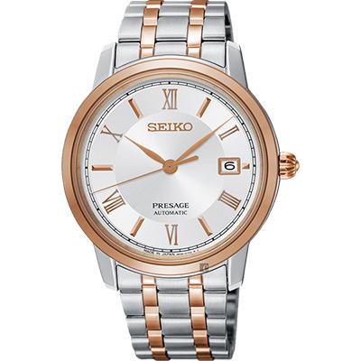 (無卡分期6期)SEIKO精工 Presage 經典機械錶(SRPC06J1)-雙色版/39mm