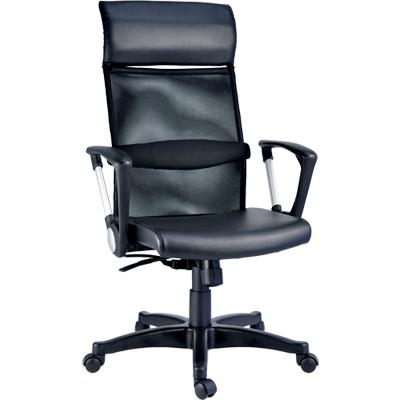 【NICK】高級透氣網背透氣皮坐墊主管椅