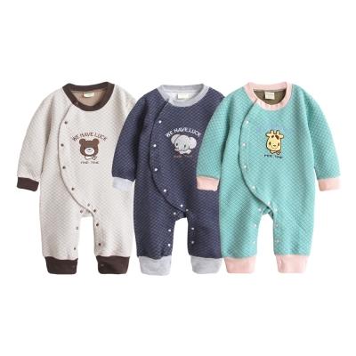 baby童衣 3色動物圖案 空氣棉前開連身衣 35252