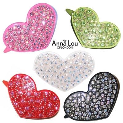 Anna Lou Of London倫敦品牌 HEARTS立體彩色水晶愛心髮夾