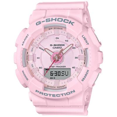 G-SHOCK 超人氣指針數位雙顯錶款(GMA-S130-4A)-粉色/47mm