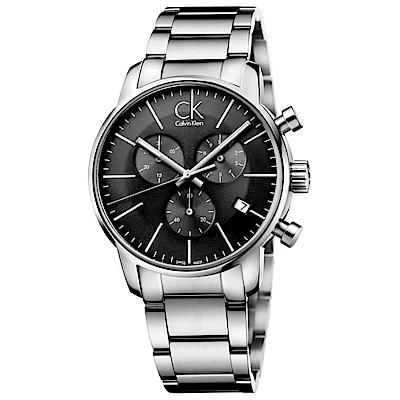 CK CALVIN KLEIN City 都會系列三眼計時手錶-43mm