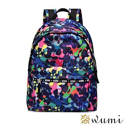 WuMi 無米 輕旅行系列後背包-螢光潑漆 藍