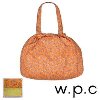 w.p.c 時尚包包的雨衣 束口防雨袋 (橘底小花)