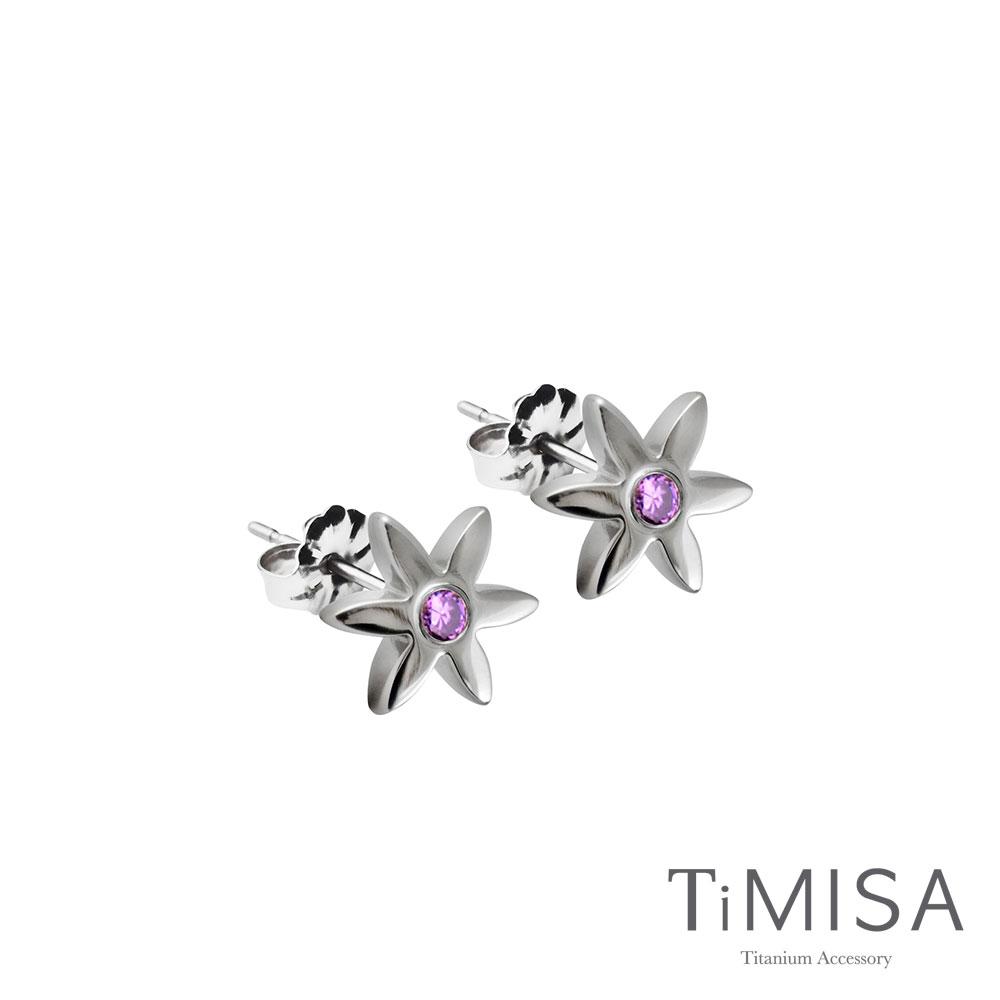 TiMISA《迷你花漾(S)》純鈦耳針一對(3色可選)