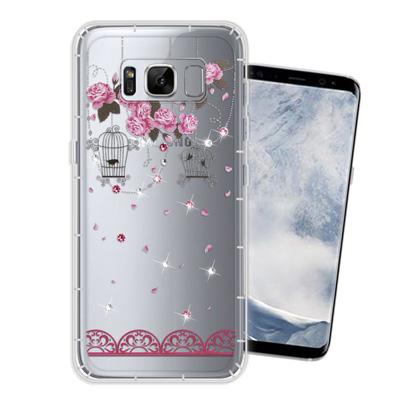 WT Samsung Galaxy S8 5.8吋 奧地利水晶彩繪空壓手機殼(璀...