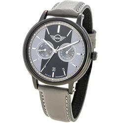 MINI Swiss Watches 原創設計 英倫風休閒錶-灰/42mm