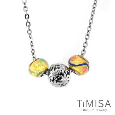 TiMISA 雛菊 純鈦串飾 項鍊
