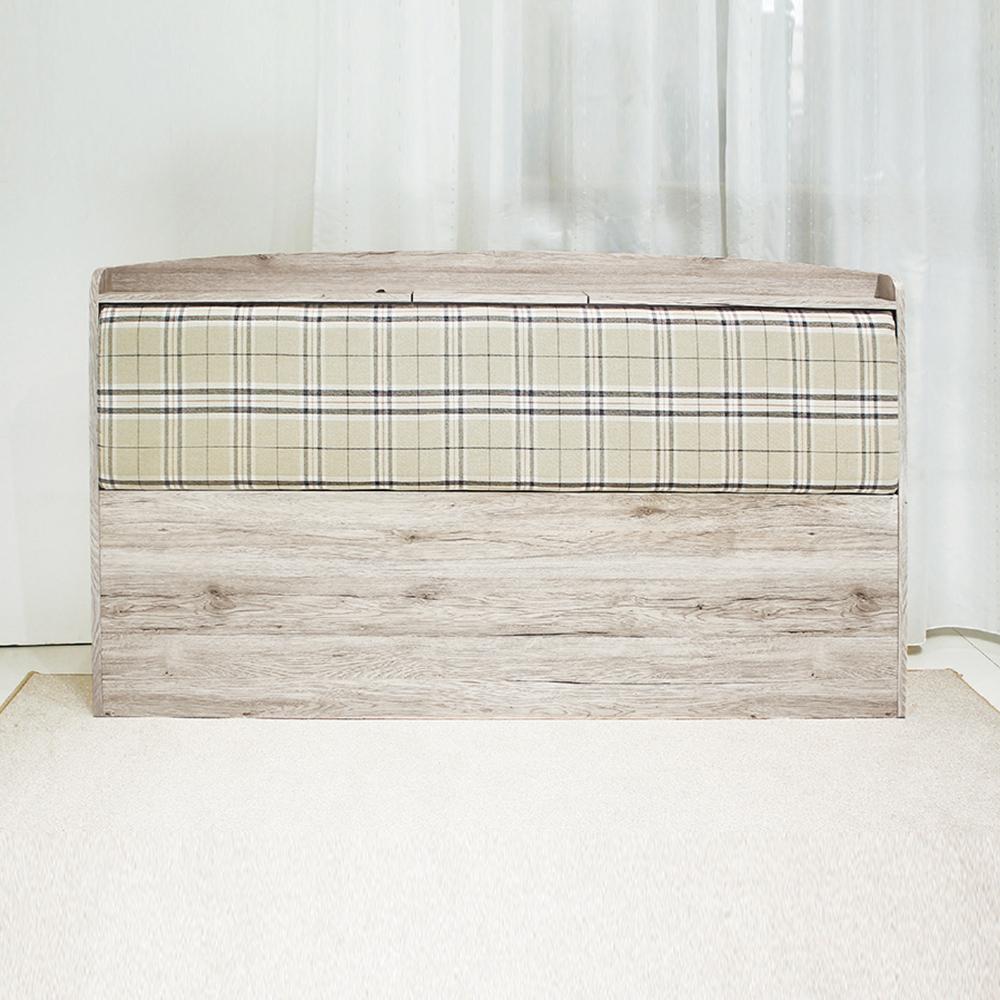AS-法蘭克5尺浮雕木紋靠墊床頭片-158x15x98cm