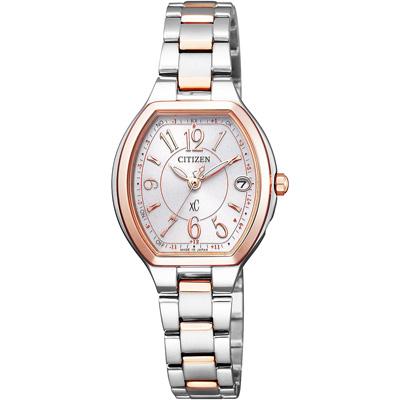 CITIZEN xC 憶戀梵蒂岡電波時計腕錶-ES9364-57A-25X23mm