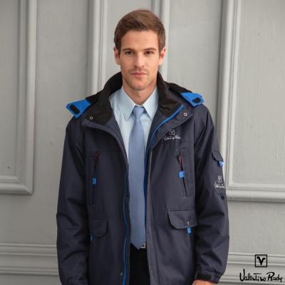 Valentino Rudy范倫鐵諾.路迪防水透氣連帽機能外套-丈青+寶藍