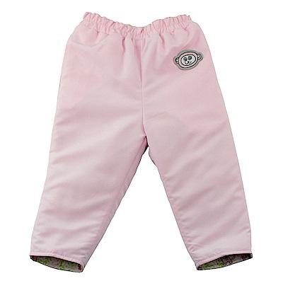 愛的世界 SUPERMINI 保暖舖棉兩面穿長褲-淺粉/1~2歲