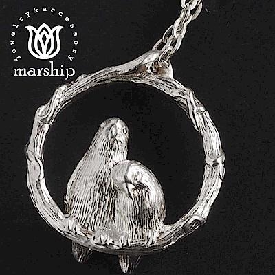 Marship 日本銀飾品牌 愛情鳥項鍊 925純銀 Love Bird 亮銀款