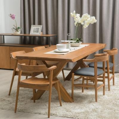 杰諾家居-特倫蒂諾全柚木實木餐桌-200x90x75cm