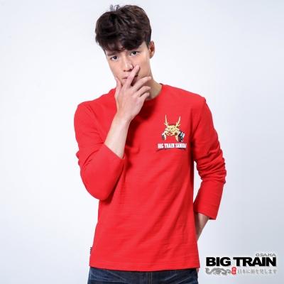 BIG TRAIN 虎嘯武士印花T-男-紅色