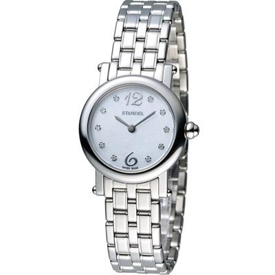 Standel Luxury 詩丹麗 60週年紀念款 頂級真鑽系列-銀色/27mm