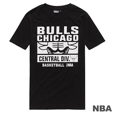 NBA-芝加哥公牛隊大圖字母印花短T-黑 (男)