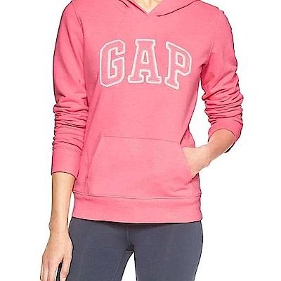 GAP 女生 長袖 帽T 粉紅 0468