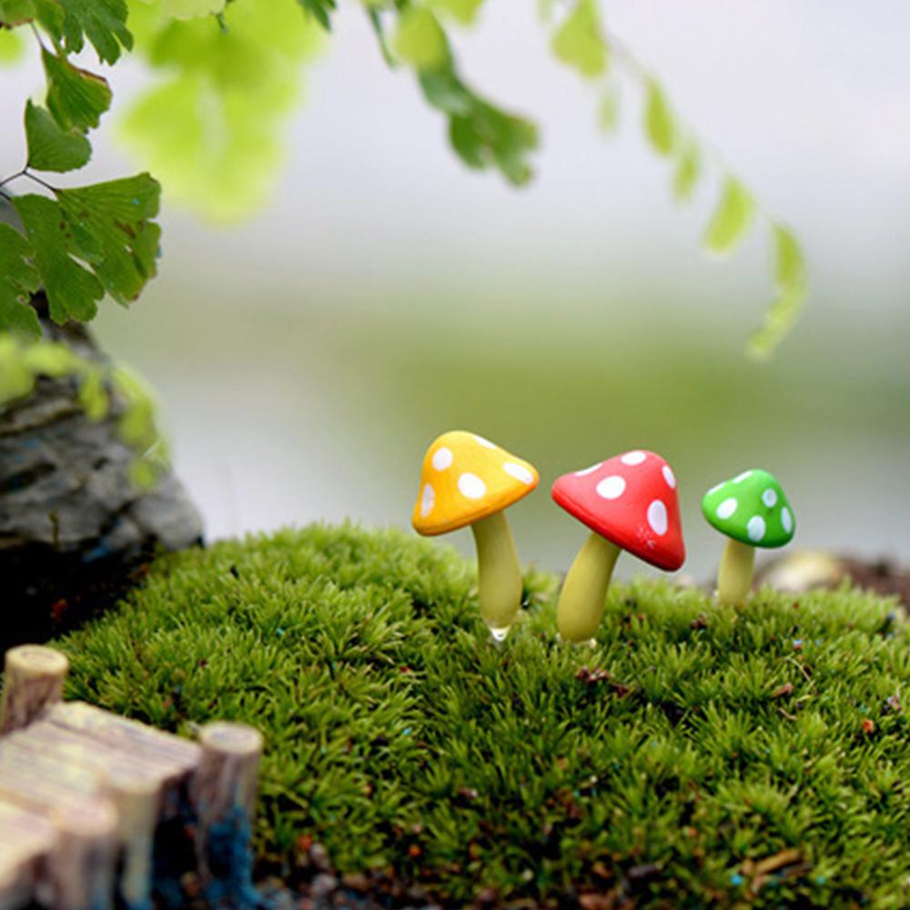微景觀 -三色小蘑菇造景擺飾