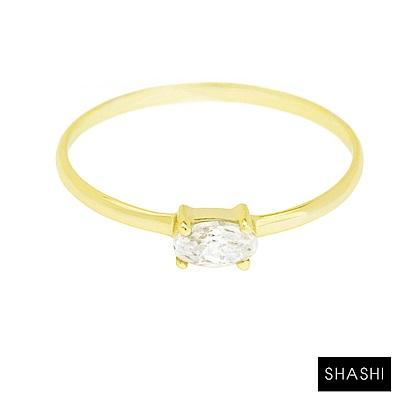 SHASHI 紐約品牌 Oval 橢圓形切割鑲鑽戒指 求婚戒 定情戒 小版