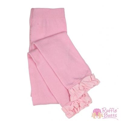 RuffleButts 小女童甜美公主荷葉邊內搭褲-粉色