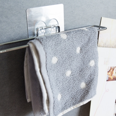 Home Feeling 304不鏽鋼毛巾架/掛架/髮絲紋貼-29.5x4.8x2cm