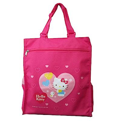 Hello Kitty 可調式補習才藝袋(愛心)