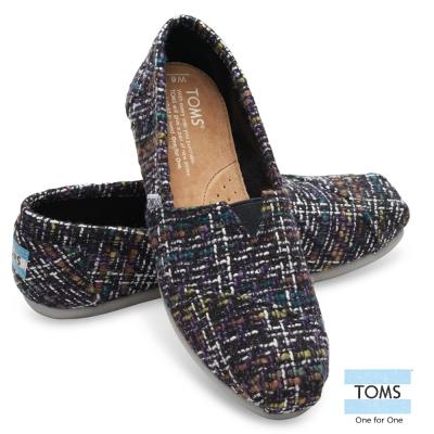 TOMS 經典毛呢懶人鞋-女款(深藍)