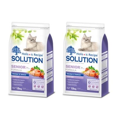 SOLUTION 耐吉斯 高齡貓 高齡/關節配方 鮮雞肉+鮭魚 3kg X 2包