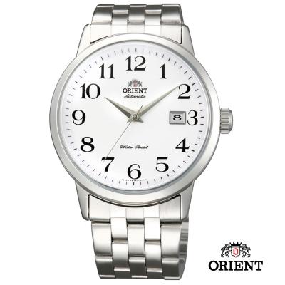 ORIENT 東方錶 Classic Design系列 日期顯示機械錶 白色 - 41mm