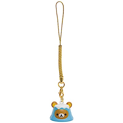 拉拉熊開運幸福系列鈴鐺吊飾。富士山San-X