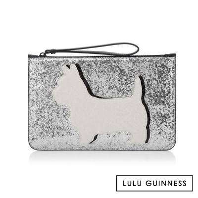 LULU GUINNESS DAPHNE DOG扁式手拿包