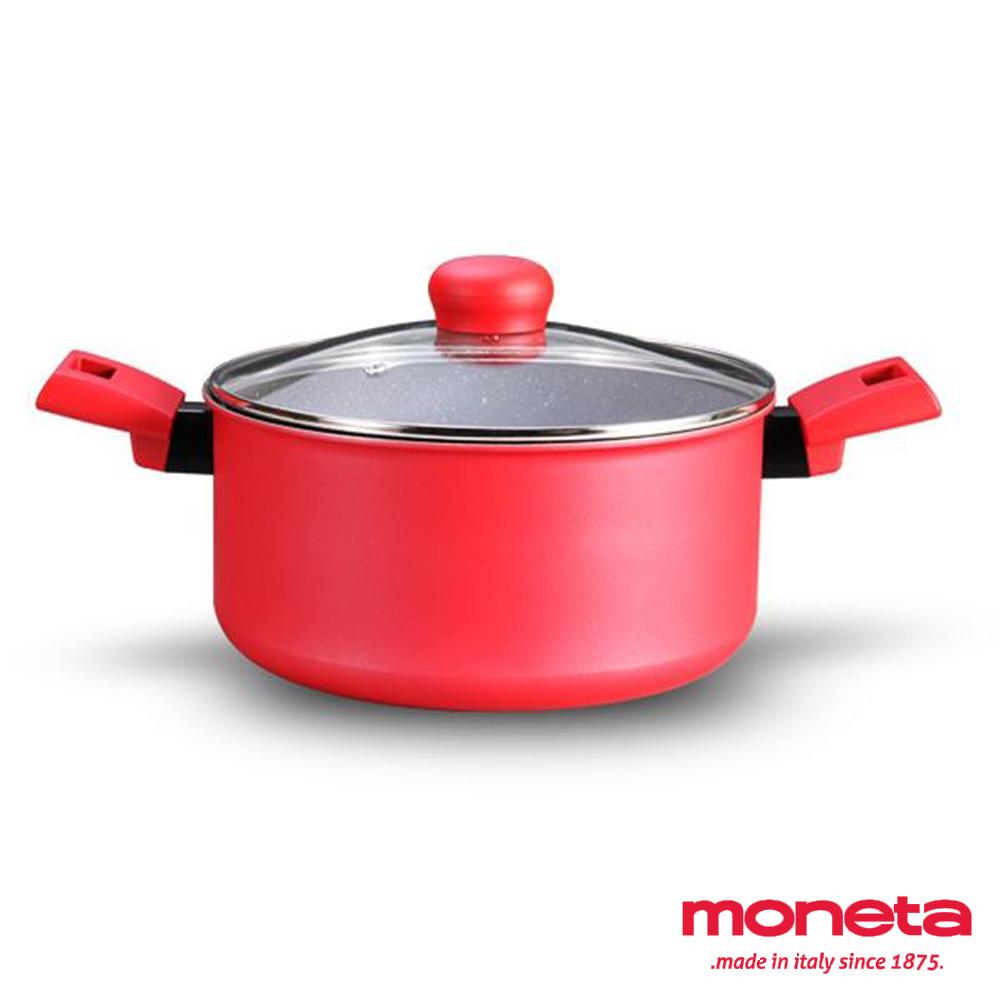 義大利MONETA 維蘇威天然礦石湯鍋24cm含蓋