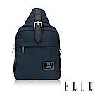 ELLE 爵士輕旅系列 輕量多隔層皮帶釦環設計休閒斜背/單肩包-深藍 EL83502