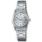 CASIO 經典復古時尚簡約巧小指針腕錶-銀白色(LTP-V001D-7B)/25mm